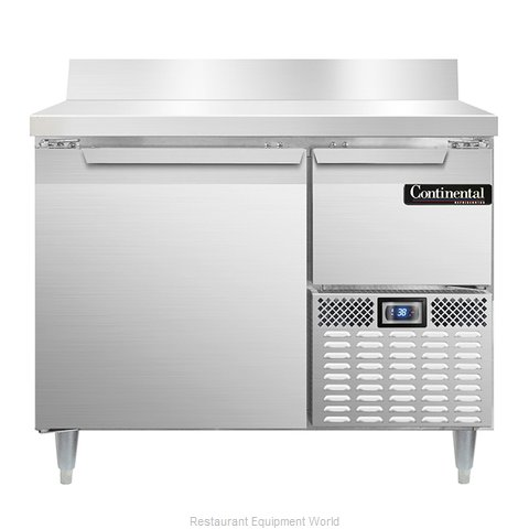 Continental Refrigerator DLRA43-SS-BS Refrigerated Counter, Work Top
