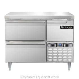 Continental Refrigerator DLRA43-SS-D Refrigerated Counter, Work Top