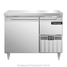 Continental Refrigerator DLRA43-SS Refrigerated Counter, Work Top