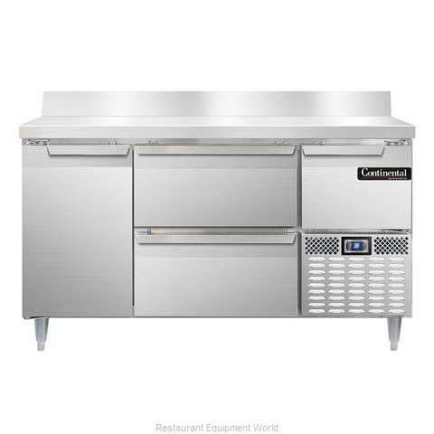 Continental Refrigerator DLRA60-SS-BS-D Refrigerated Counter, Work Top
