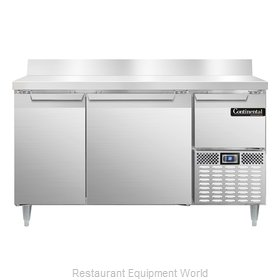 Continental Refrigerator DLRA60-SS-BS Refrigerated Counter, Work Top