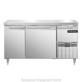 Continental Refrigerator DLRA60-SS Refrigerated Counter, Work Top