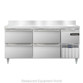 Continental Refrigerator DLRA68-SS-BS-D Refrigerated Counter, Work Top