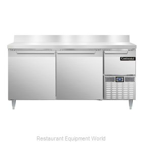 Continental Refrigerator DLRA68-SS-BS Refrigerated Counter, Work Top