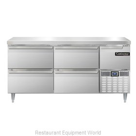 Continental Refrigerator DLRA68-SS-D Refrigerated Counter, Work Top