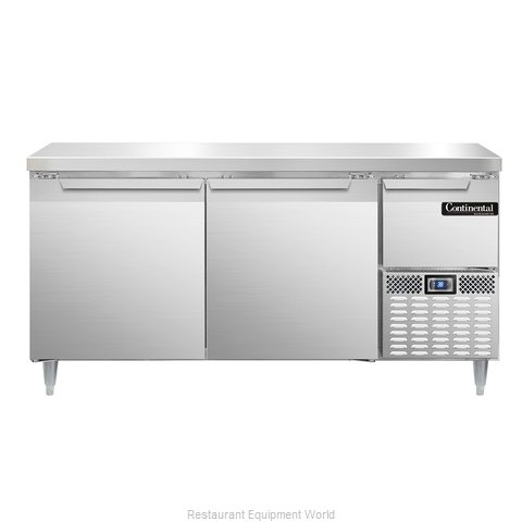 Continental Refrigerator DLRA68-SS Refrigerated Counter, Work Top