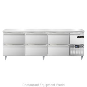 Continental Refrigerator DLRA93-SS-D Refrigerated Counter, Work Top