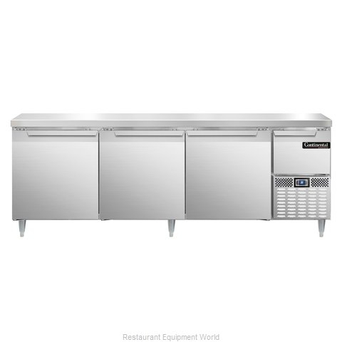 Continental Refrigerator DLRA93-SS Refrigerated Counter, Work Top