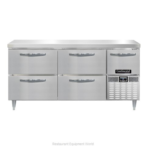 Continental Refrigerator DRA68NSS-F Refrigerator, Fish / Poultry