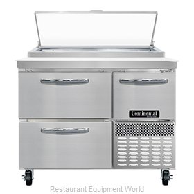 Continental Refrigerator PA43N-D Refrigerated Counter, Pizza Prep Table