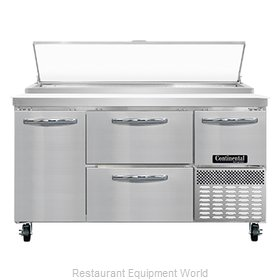 Continental Refrigerator PA60N-D Refrigerated Counter, Pizza Prep Table
