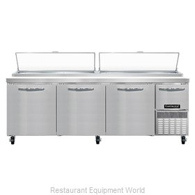 Continental Refrigerator PA93N Refrigerated Counter, Pizza Prep Table