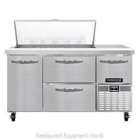 Continental Refrigerator RA60N18M-D Refrigerated Counter, Mega Top Sandwich / Sa
