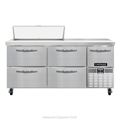Continental Refrigerator RA68N10-D Refrigerated Counter, Sandwich / Salad Unit
