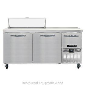 Continental Refrigerator RA68N10 Refrigerated Counter, Sandwich / Salad Unit