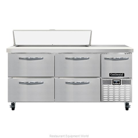 Continental Refrigerator RA68N12-D Refrigerated Counter, Sandwich / Salad Unit