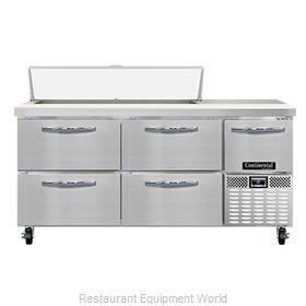 Continental Refrigerator RA68N12-D Refrigerated Counter, Sandwich / Salad Unit