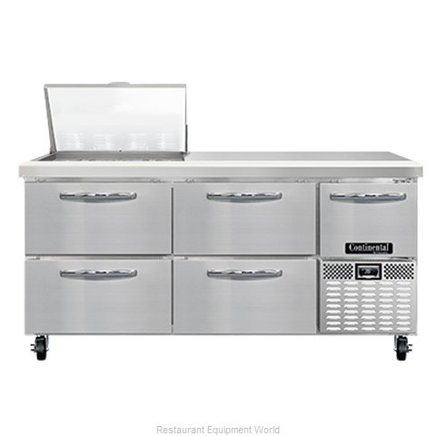 Continental Refrigerator RA68N12M-D Refrigerated Counter, Mega Top Sandwich / Sa (Magnified)