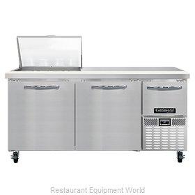 Continental Refrigerator RA68N12M Refrigerated Counter, Mega Top Sandwich / Sala