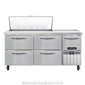 Continental Refrigerator RA68N18M-D Refrigerated Counter, Mega Top Sandwich / Sa