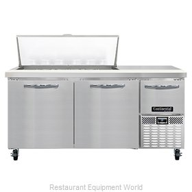 Continental Refrigerator RA68N18M Refrigerated Counter, Mega Top Sandwich / Sala