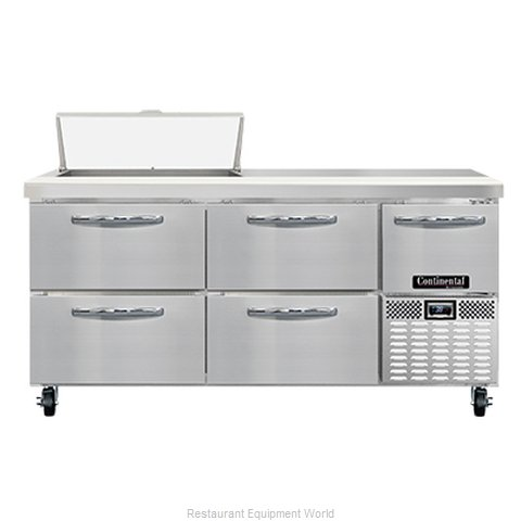 Continental Refrigerator RA68N8-D Refrigerated Counter, Sandwich / Salad Unit