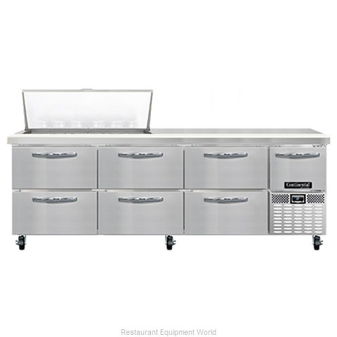 Continental Refrigerator RA93N18M-D Refrigerated Counter, Mega Top Sandwich / Sa (Magnified)