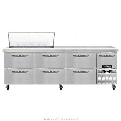 Continental Refrigerator RA93N18M-D Refrigerated Counter, Mega Top Sandwich / Sa