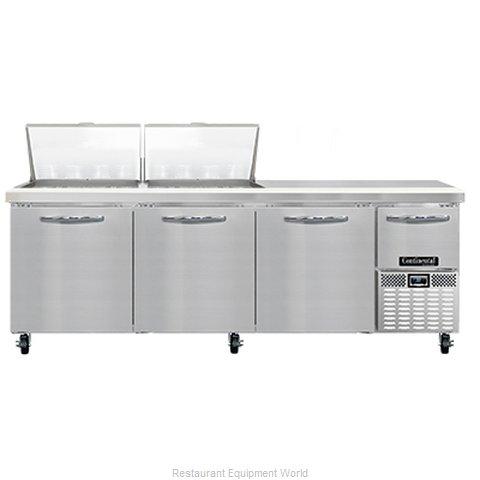 Continental Refrigerator RA93N24M Refrigerated Counter, Mega Top Sandwich / Sala