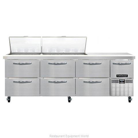 Continental Refrigerator RA93N27M-D Refrigerated Counter, Mega Top Sandwich / Sa