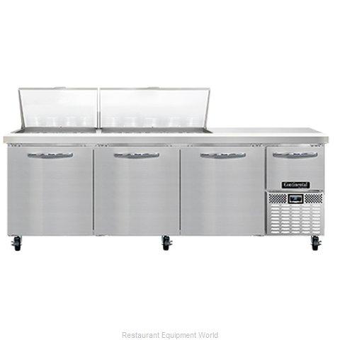Continental Refrigerator RA93N27M Refrigerated Counter, Mega Top Sandwich / Sala
