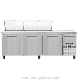 Continental Refrigerator RA93N30M Refrigerated Counter, Mega Top Sandwich / Sala