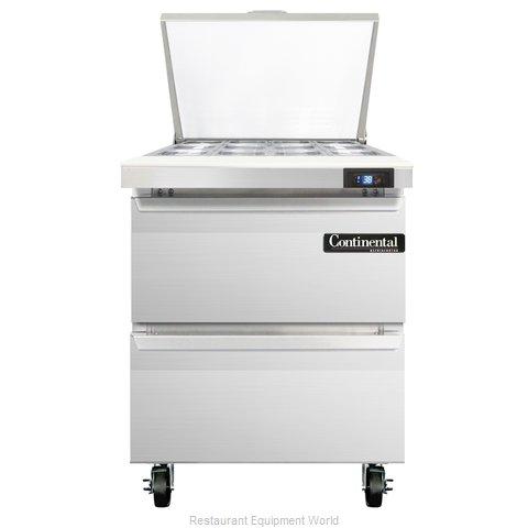 Continental Refrigerator SW27-12M-D Refrigerated Counter, Mega Top Sandwich / Sa