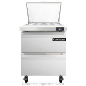 Continental Refrigerator SW27-12M-D Refrigerated Counter, Mega Top Sandwich / Sa