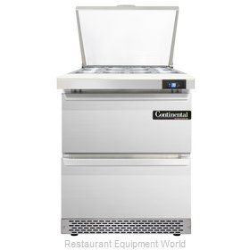Continental Refrigerator SW27-12M-FB-D Refrigerated Counter, Mega Top Sandwich /
