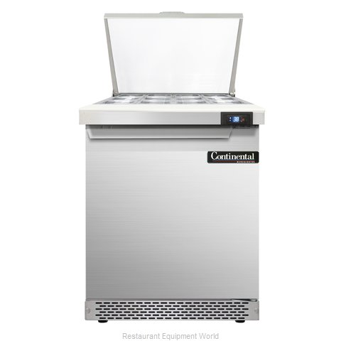 Continental Refrigerator SW27-12M-FB Refrigerated Counter, Mega Top Sandwich / S