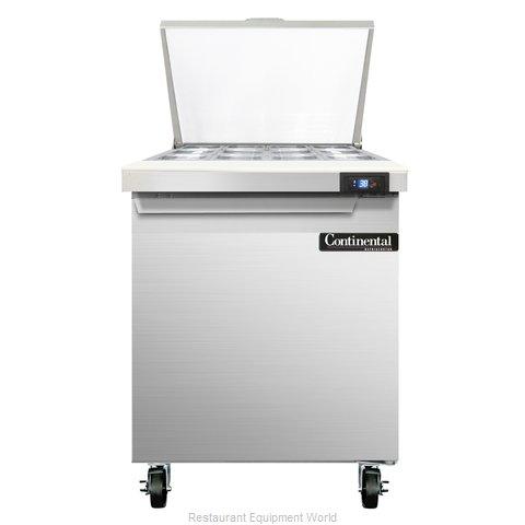 Continental Refrigerator SW27-12M Refrigerated Counter, Mega Top Sandwich / Sala