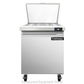 Continental Refrigerator SW27-12M Refrigerated Counter, Mega Top Sandwich / Sala