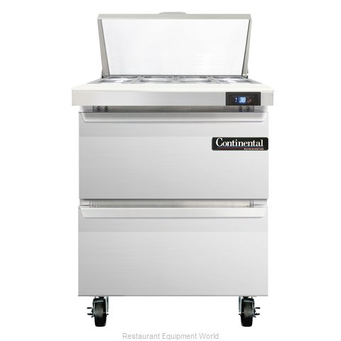 Continental Refrigerator SW27-8-D Refrigerated Counter, Sandwich / Salad Top