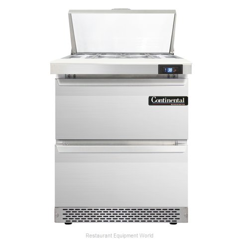 Continental Refrigerator SW27-8-FB-D Refrigerated Counter, Sandwich / Salad Top