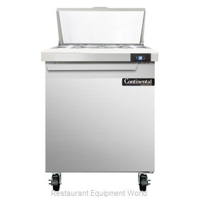 Continental Refrigerator SW27-8 Refrigerated Counter, Sandwich / Salad Top