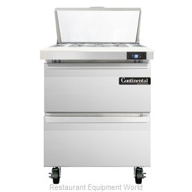 Continental Refrigerator SW27-8C-D Refrigerated Counter, Sandwich / Salad Top