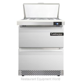 Continental Refrigerator SW27-8C-FB-D Refrigerated Counter, Sandwich / Salad Top