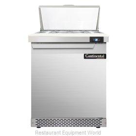 Continental Refrigerator SW27-8C-FB Refrigerated Counter, Sandwich / Salad Top