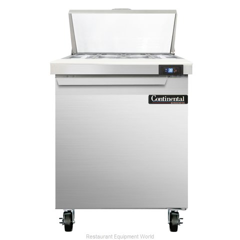 Continental Refrigerator SW27-8C Refrigerated Counter, Sandwich / Salad Top