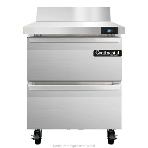 Continental Refrigerator SW27-BS-D Refrigerated Counter, Work Top