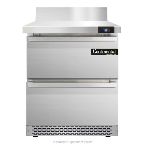 Continental Refrigerator SW27-BS-FB-D Refrigerated Counter, Work Top