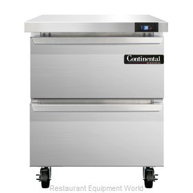 Continental Refrigerator SW27-D Refrigerated Counter, Work Top