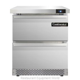 Continental Refrigerator SW27-FB-D Refrigerated Counter, Work Top