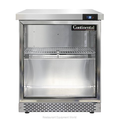 Continental Refrigerator SW27-GD-FB Refrigerated Counter, Work Top